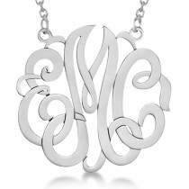Personalized Monogram Pendant Necklace in Sterling Silver