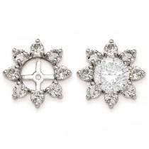 White Topaz Flower Earring Jackets