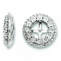 Diamond Double Halo Earring Jackets Sterling Silver (0.10ct)