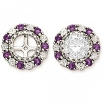 Diamond & Amethyst Earring Jackets