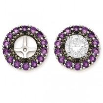 Amethyst & Black Sapphire Earring Jackets