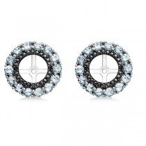 Aquamarine & Black Sapphire Earring Jackets