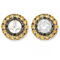Citrine & Black Sapphire Earring Jackets