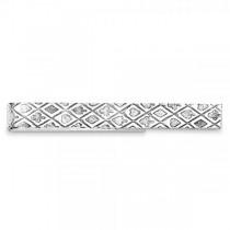 Textured Tie Bar in Plain Metal Sterling Silver