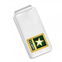 U.S. Army Yellow Star Money Clip in Sterling Silver