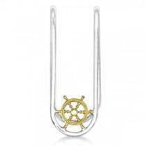Vermeil Sailor Wheel Money Clip in Sterling Silver