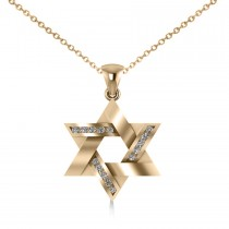 Diamond Star of David Pendant Necklace 14k Yellow Gold (0.23ct)