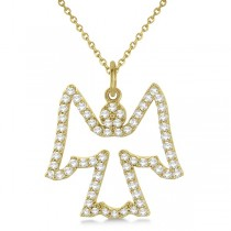Diamond Angel Pendant Necklace 14k Yellow Gold (0.33ct)