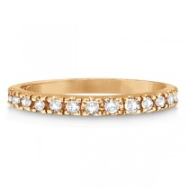 Diamond Stackable Ring Anniversary Band in 14k Rose Gold (0.25ct)