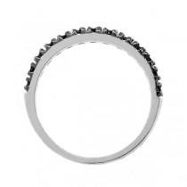 Black Diamond Stackable Ring Guard in 14K White Gold (0.25ct)