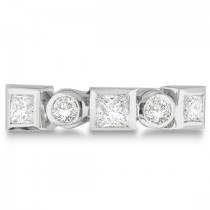 Princess-Cut & Round Diamond Ring in 14K White Gold (0.60ct)
