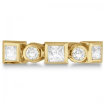 Princess-Cut & Round Diamond Ring in 14K Yellow Gold (0.60ct)