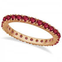 Ruby Eternity Band Stackable Ring 14K Rose Gold (0.50ct)