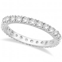 Diamond Eternity Wedding Ring Band 14K White Gold (0.51ctw)