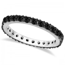 Black Diamond Eternity Band 14K White Gold (0.51 ctw)