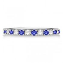 Tanzanite & Diamond Eternity Stackable Ring Band 14K White Gold (0.75ct)