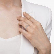 Diamond Eternity Wedding Ring Band 14K White Gold (0.51ctw)|escape