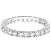 Diamond Eternity Wedding Ring Band 14K White Gold (0.51ctw)