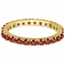 Ruby Eternity Band Stackable Ring 14K Yellow Gold (0.50ct)