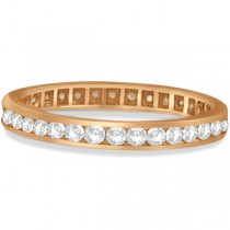Channel Set Diamond Eternity Ring Band 14k Rose Gold (pink) (1.00 ct)