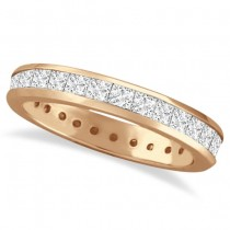 Channel-Set Princess Cut Diamond Eternity Ring 14k Rose Gold (1.56ct)
