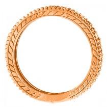 Diamond & Tanzanite Eternity Ring Band 14k Rose Gold (1.08ct)
