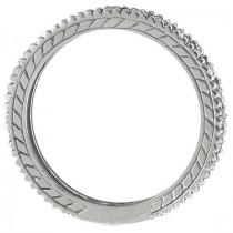 Diamond & Peridot Eternity Ring Band 14k White Gold (1.08ct)|escape