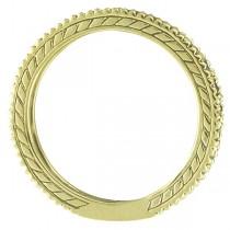 Diamond & Citrine Eternity Ring Band 14k Yellow Gold (1.08ct)