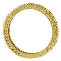 Diamond & Tanzanite Eternity Ring Band 14k Yellow Gold (1.08ct)