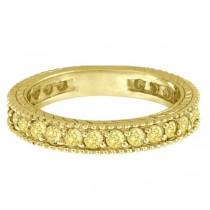 Fancy Yellow Canary Diamond Eternity Ring Band 14k Yellow Gold (1.00ct)