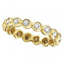 Bezel-Set Diamond Eternity Ring Band 14k Yellow Gold (1.00ct)
