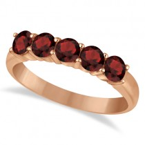 Five Stone Garnet Ring 14k Rose Gold (1.60ctw)