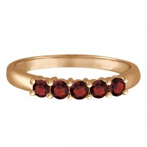 Five Stone Garnet Ring 14k Rose Gold (0.79ctw)