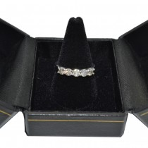 Five Stone Diamond Ring Anniversary Band 14k White Gold (1.00ctw)