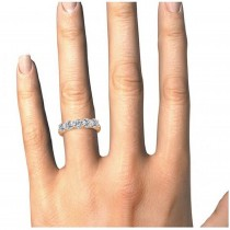 Five Stone Diamond Ring Anniversary Band 18k Rose Gold (2.00ct)