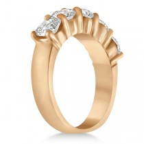 Five Stone Diamond Ring Anniversary Band 14k Rose Gold (2.50 ctw)