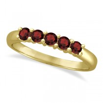 Five Stone Garnet Ring 14k Yellow Gold (0.79ctw)