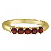 Five Stone Garnet Ring 14k Yellow Gold (0.79ctw)