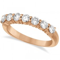 Seven-Stone Diamond Anniversary Ring Band 14k Rose Gold (1.00ct)