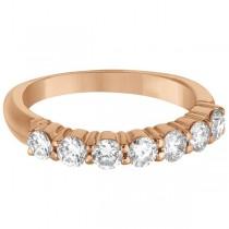 Seven-Stone Diamond Anniversary Ring Band 14k Rose Gold (1.00ct)