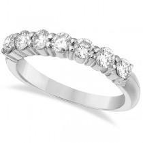 Seven-Stone Diamond Anniversary Ring Band 14k White Gold (1.00ct)