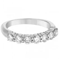 Seven-Stone Diamond Anniversary Ring Band 14k White Gold (1.00ct)