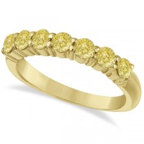 Seven-Stone Fancy Yellow Diamond Ring Band 14k Yellow Gold (1.00ct)