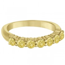 Seven-Stone Fancy Yellow Diamond Ring Band 14k Yellow Gold (1.00ct)