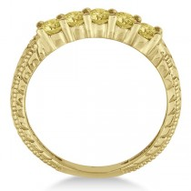 Five-Stone Fancy Yellow Diamond Ring Band 14k Yellow Gold (0.50ct)