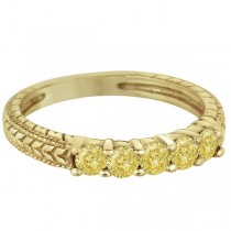 Five-Stone Fancy Yellow Diamond Ring Band 14k Yellow Gold (0.50ct)