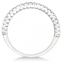 Half-Eternity Pave-Set Diamond Stacking Ring Palladium (0.25ct)