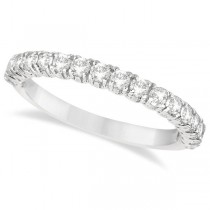 Half-Eternity Pave-Set Diamond Stacking Ring Palladium (0.75ct)
