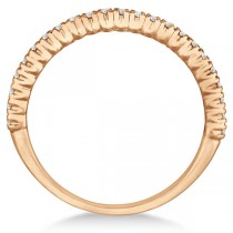 Half-Eternity Pave-Set Diamond Stacking Ring 14k Rose Gold (0.25ct)