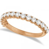 Diamond Wedding Band Anniversary Ring in 14k Rose Gold (1.00ct)